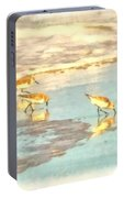 Sandpipers Along The Shoreline Portable Battery Charger