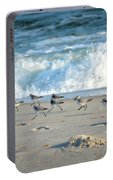 Sandpipers Running Everywhere Portable Battery Charger