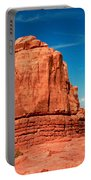 Sandstone Monolith, Courthouse Towers, Arches National Park Portable Battery Charger