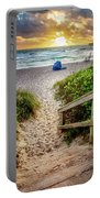 Sandy Walk Down To The Beach Portable Battery Charger