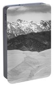 Sangre De Cristo Mountains And The Great Sand Dunes Bw Portable Battery Charger