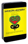 Sankofa Adinkra Portable Battery Charger