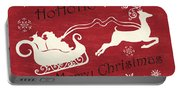 Santa And Reindeer Sleigh Portable Battery Charger