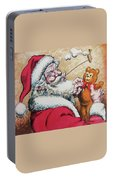 Santa And Teddy Portable Battery Charger