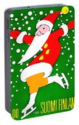 Santa Claus On Skates Portable Battery Charger