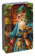 Santa Claus Ringing A Bell Portable Battery Charger