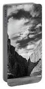 Santa Elena Canyon Black And White Portable Battery Charger
