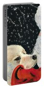 Santa Loves Dogs Portable Battery Charger