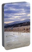 Santa Monica Sunset Panorama Portable Battery Charger