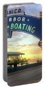 Santa Monica Yacht Harbor Sign Portable Battery Charger