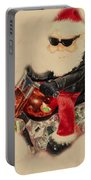 Santa On Motorcycle  Portable Battery Charger