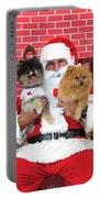 Santa Paws With Two Dogs Portable Battery Charger