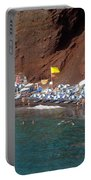Santorini Red Beach   Portable Battery Charger
