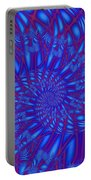 Sapphire Swirl Portable Battery Charger