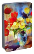 Sara's Colorful Bouquet  Portable Battery Charger