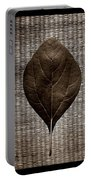 Sassafras Leaves With Wicker Portable Battery Charger