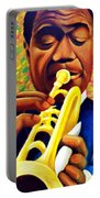 Satchmo, Louis Armstrong Painting Portable Battery Charger