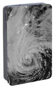 Satellite View Of Hurricane Sandy Portable Battery Charger