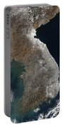 Satellite View Of Snowfall Along South Portable Battery Charger