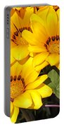 Satin Yellow Florals Portable Battery Charger