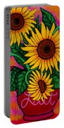 Saturday Morning Sunflowers Portable Battery Charger