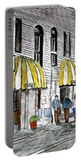 Savannah Georgia River Street 2 Painting Art Portable Battery Charger