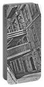 Savannah River Walk Stories Black And White Portable Battery Charger