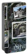 Savannah Scenes Collage Portable Battery Charger