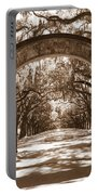 Savannaha Sepia - Wormsloe Plantation Gate Portable Battery Charger