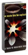Save Waste Fats For Explosives Portable Battery Charger