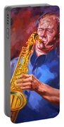 Sax Player  Portable Battery Charger