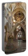 Saxon Baptismal Font Wells Cathedral, Somerset Uk Portable Battery Charger