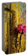 Saxophone And Roses On Wall Portable Battery Charger