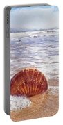 Scallop Shell On The Beach - Impressions Portable Battery Charger