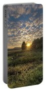Scalloped Morning Skies Portable Battery Charger