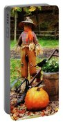 Scarecrow And Pumpkin Portable Battery Charger
