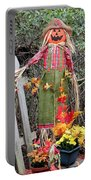 Scarecrow In The Garden Portable Battery Charger