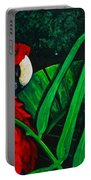 Scarlet Macaw Head Study Portable Battery Charger