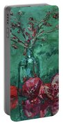 Scarlet Pomegranates Portable Battery Charger
