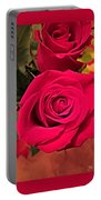 Scarlet Roses Portable Battery Charger