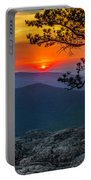 Scarlet Sky At Ravens Roost Panorama I Portable Battery Charger