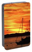 Scarlet Sunrise On Provincetown Pier 1  Portable Battery Charger
