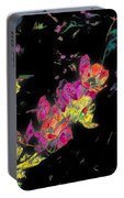 Scarlet Globe Mallow On Black Portable Battery Charger