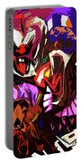 Scary Clowns Abstract Portable Battery Charger