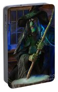 Scary Old Witch Portable Battery Charger