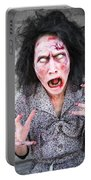 Scary Screaming Zombie Woman Portable Battery Charger