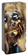 Scary Zombie Pulling Funny Face  Portable Battery Charger