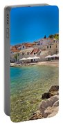 Scenic Mediterranean Beach In Primosten Portable Battery Charger