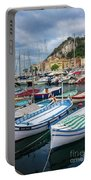 Scenic View Of Castle Hill And Marina In Nice, France Portable Battery Charger