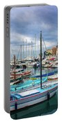 Scenic View Of Historical Marina In Nice, France Portable Battery Charger